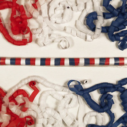Red white blue tissue streamers