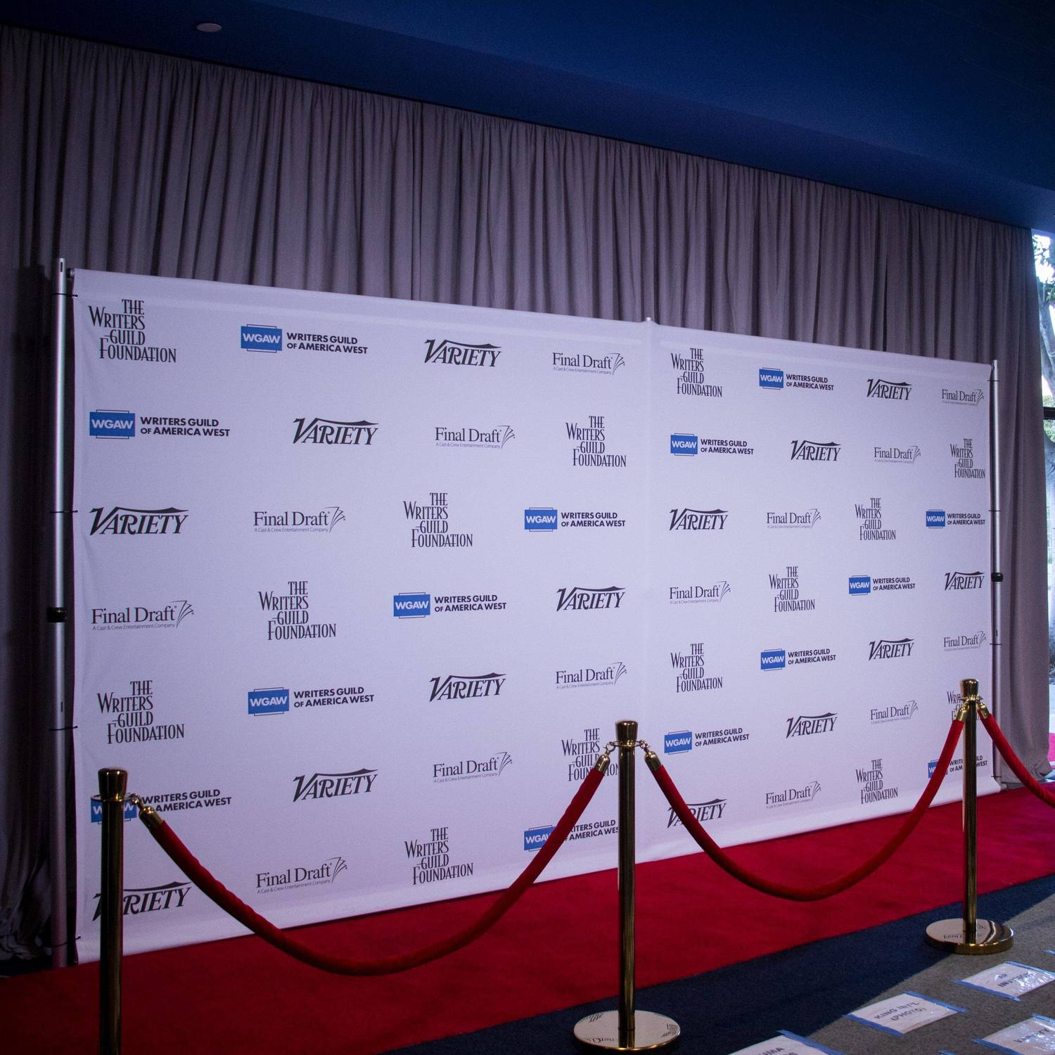 Backdrop and redcarpet